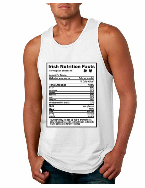 Irish nutrition facts St patrick men jersey tanktop - ALLNTRENDSHOP - 2