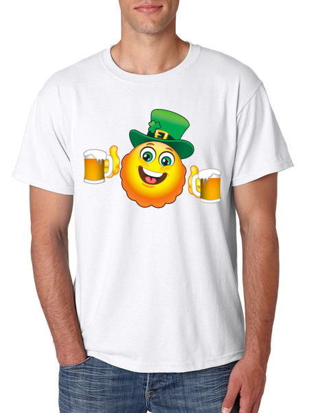 Irish smiling Emoji ST patricks men t-shirt - ALLNTRENDSHOP - 2