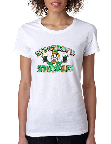 let`s get ready to stumble St patrick women t-shirt - ALLNTRENDSHOP - 1