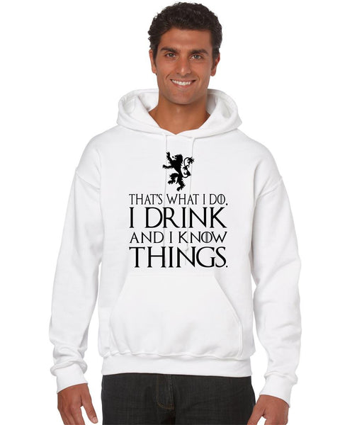 That What I Do I Drink And I Know Things men Hoodie - ALLNTRENDSHOP - 3