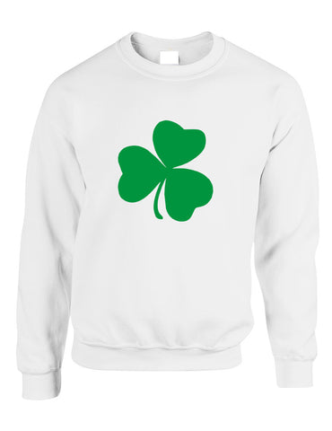 Adult Sweatshirt Green Shamrock Graphic St Patrick's Day Top - ALLNTRENDSHOP - 1
