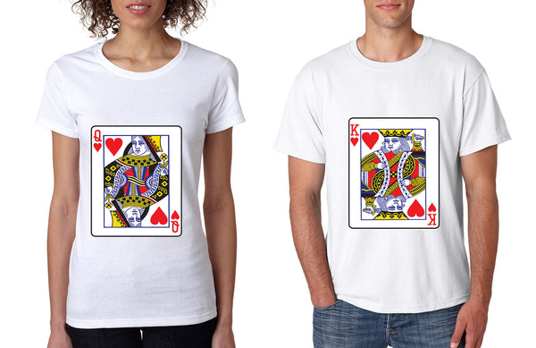 King and Queen matching couples tshirts Valentines day - ALLNTRENDSHOP - 2