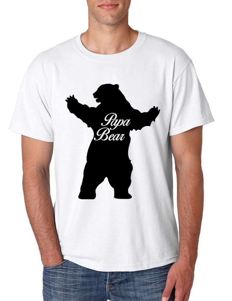 Men's T Shirt Papa Bear Family Shirt For Dad Xmas Cute Gift - ALLNTRENDSHOP - 1