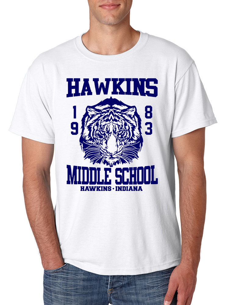 Men's T Shirt Hawkins Middle School 1983 - ALLNTRENDSHOP - 1