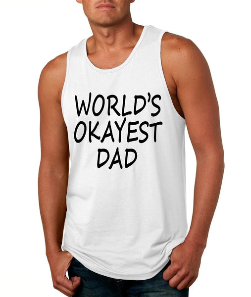 World's OKayest dad fathers day men jersey tank top - ALLNTRENDSHOP - 4