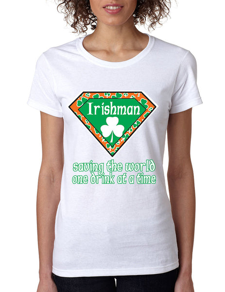 irishman saving the world st patricks women t-shirt - ALLNTRENDSHOP - 5