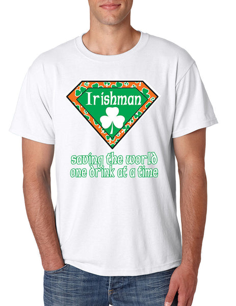 Irishman saving the world st patricks men t-shirt - ALLNTRENDSHOP - 1