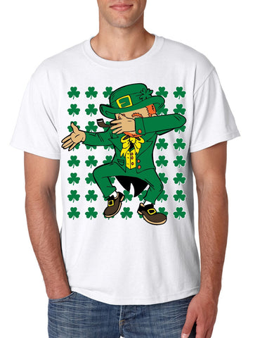 Dabbing Irish Leprechaun St patrick men t-shirt - ALLNTRENDSHOP