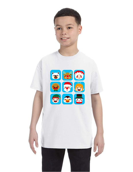 Kids T Shirt Christmas Icons Ugly Holiday Symbols T-Shirt - ALLNTRENDSHOP - 2