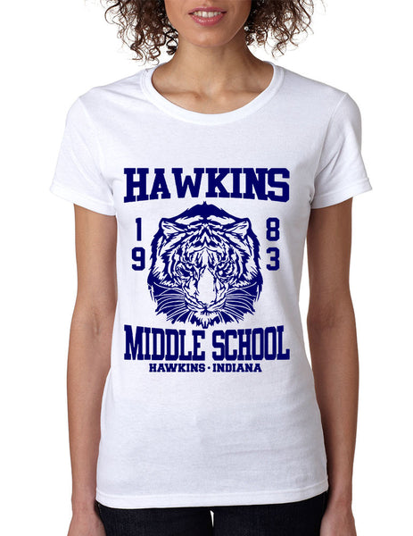 Women's T Shirt Hawkins Middle School 1983 - ALLNTRENDSHOP - 1
