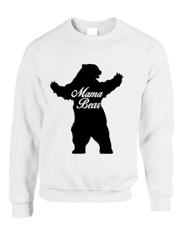 Adult Crewneck Mama Bear Family Top For Mom Xmas Cute Gift - ALLNTRENDSHOP - 1