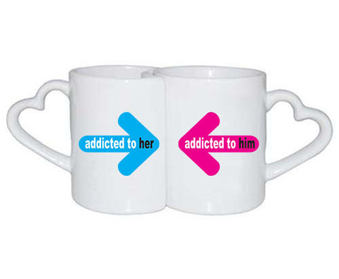 Love Mugs addicted to him her - ALLNTRENDSHOP