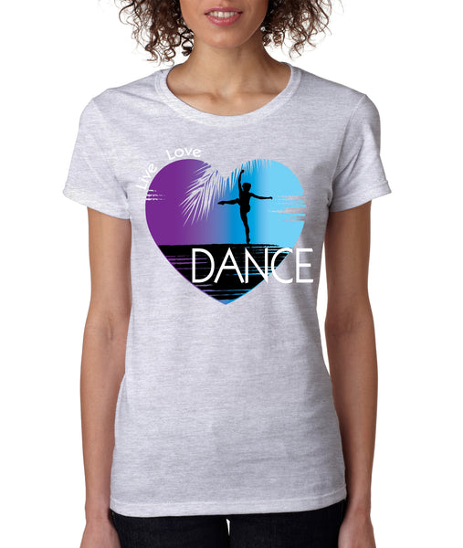 Women's T Shirt Dance Art Purple Print Love Cute Gift Nice Tee - ALLNTRENDSHOP - 2