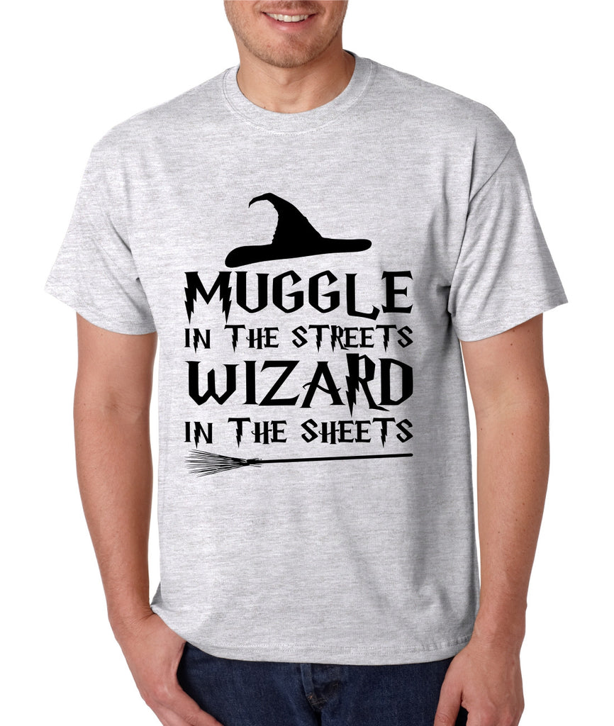 Men's T Shirt Muggle In The Streets Wizard In The Sheets Cool Tee - ALLNTRENDSHOP - 1