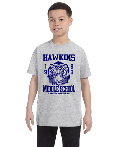 Kids Youth T Shirt Hawkins Middle School 1983 Trendy Tee Gift