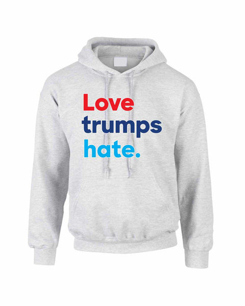 Adult Hoodie Love Trumps Hate Donald Trump USA Sweater - ALLNTRENDSHOP - 2