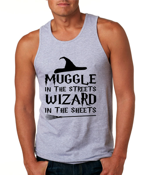 Men's Tank Top Muggle In The Streets Wizard In The Sheets Cool Top - ALLNTRENDSHOP - 2