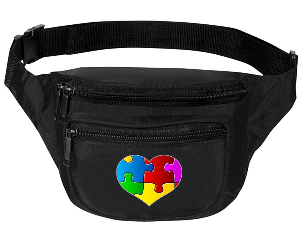 Adult Waist Pack Autism Puzzle Heart Piece Support Bag Cool Packs