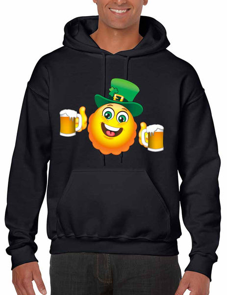 Irish smiling Emoji ST patricks men hooded sweatshirt - ALLNTRENDSHOP - 3
