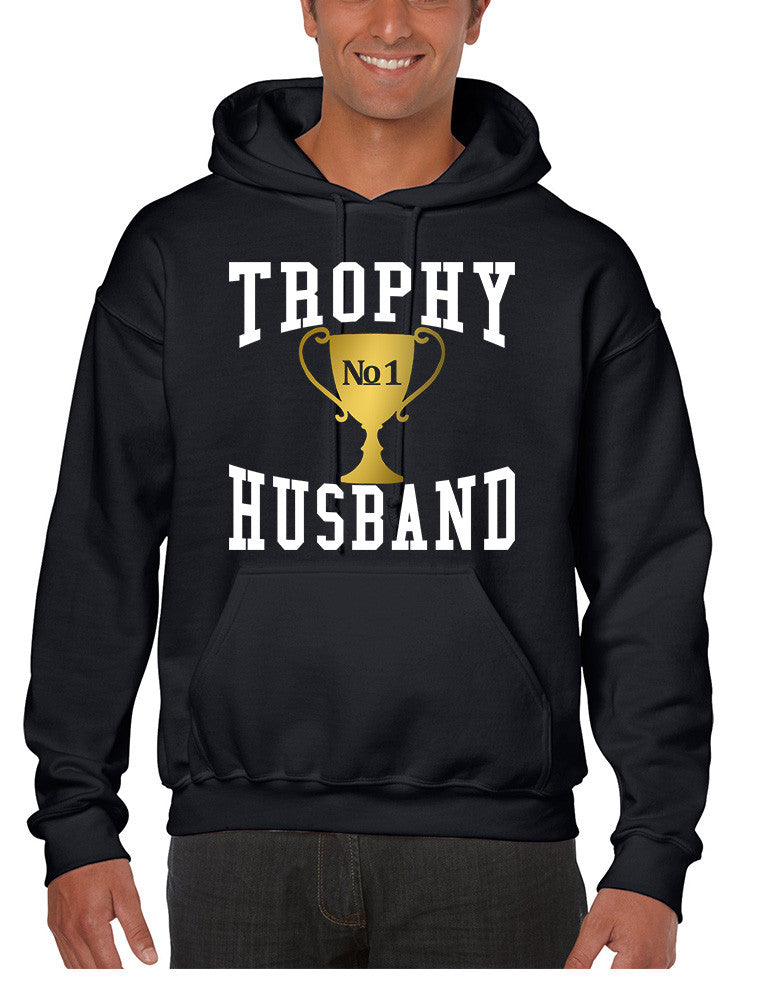 Men's Hoodie Trophy Husband Cool Xmas Gift Love Family Top - ALLNTRENDSHOP - 1