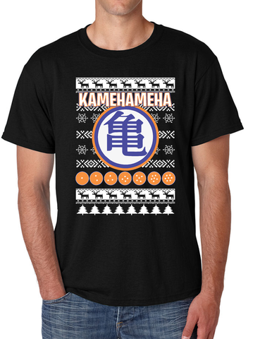 Christmas Goku's Training Symbol kamehameha Men's T Shirt