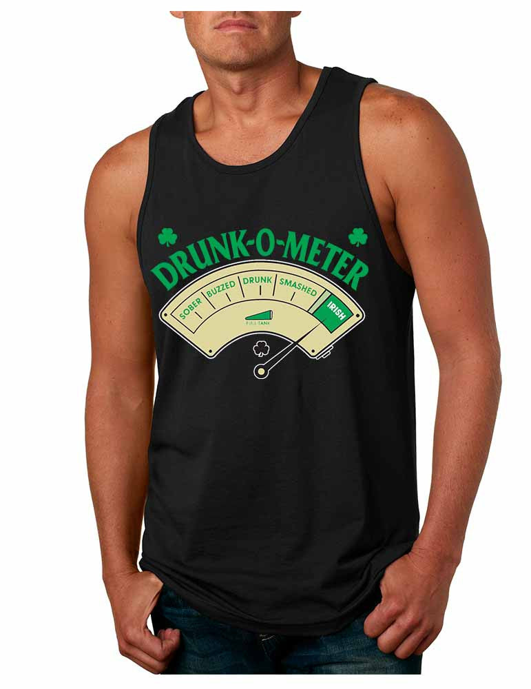 Drunk-O-Meter Men Jersey Tank saint patricks day - ALLNTRENDSHOP