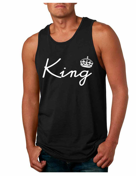 King with crown men jersey tank top - ALLNTRENDSHOP - 3