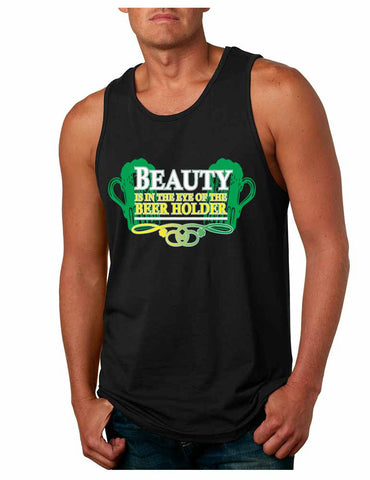 Beauty is in the eye of the Beer holder men Jersey Tanktop - ALLNTRENDSHOP