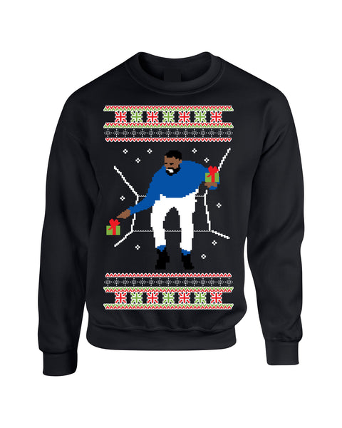 Adult Crewneck 1-800 Hotline Bling Ugly Christmas Sweater - ALLNTRENDSHOP - 6