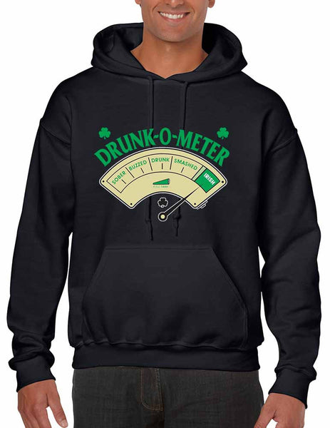 Drunk-O-Meter Men hooded sweatshirt saint patricks day - ALLNTRENDSHOP