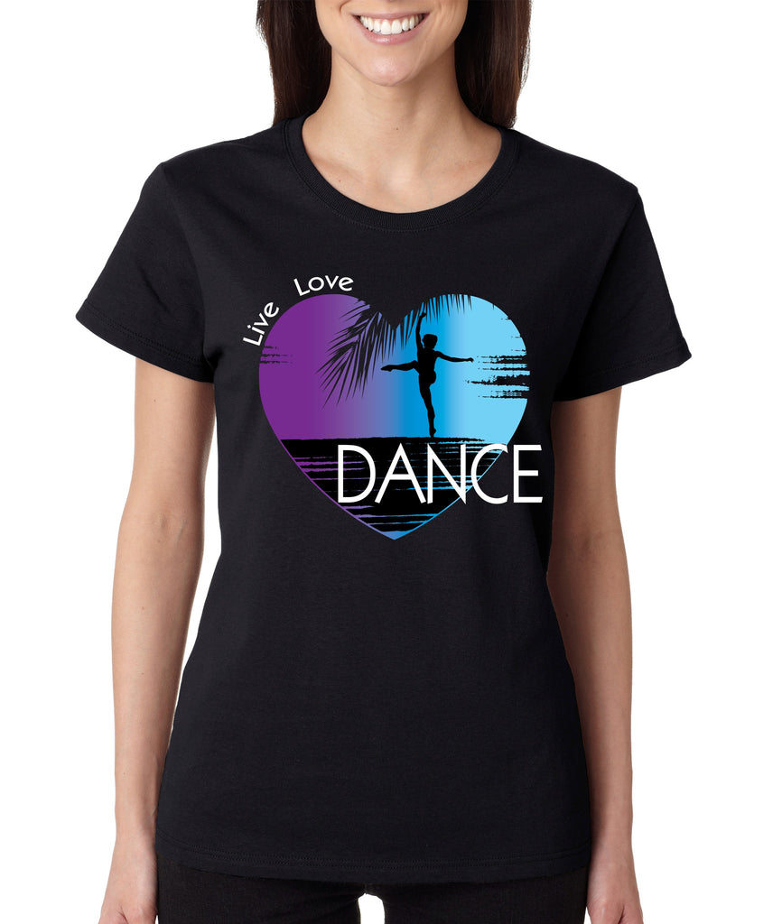 Women's T Shirt Dance Art Purple Print Love Cute Gift Nice Tee - ALLNTRENDSHOP - 1