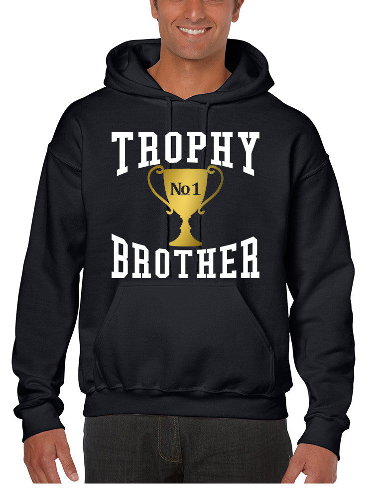 Men's Hoodie Trophy Brother Love Family Gift Cool Graphic Top - ALLNTRENDSHOP - 1