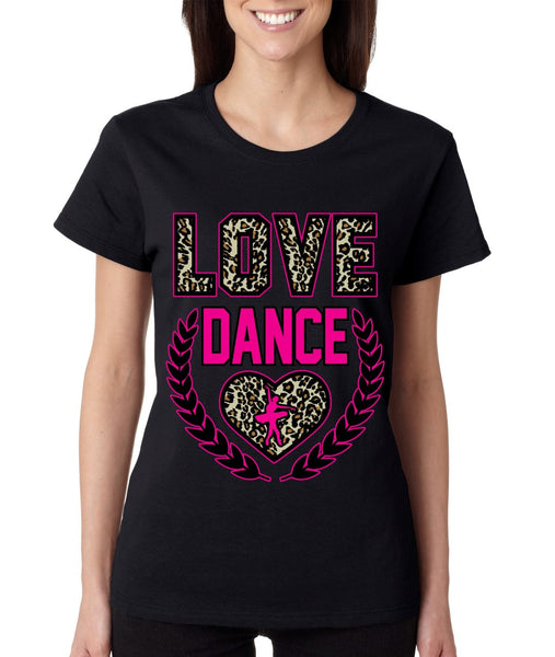 Love Dance Leopard womens T-Shirts - ALLNTRENDSHOP - 2