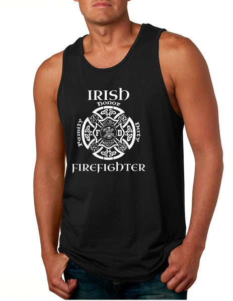 Men's Tank Top Irish Firefighter St Patrick's Patry Irish Top - ALLNTRENDSHOP - 2
