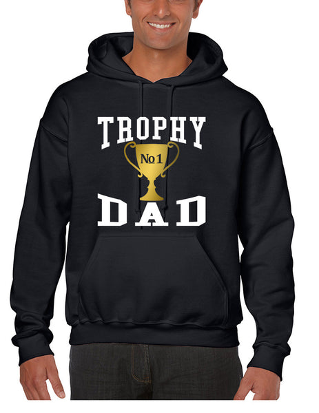 Men's Hoodie Trophy Dad Love Father Shirt Daddy Cool Gift - ALLNTRENDSHOP - 1