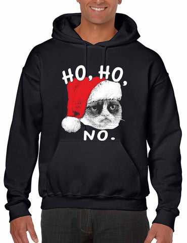 HO HO NO Grumpy cat men Hooded sweatshirt - ALLNTRENDSHOP