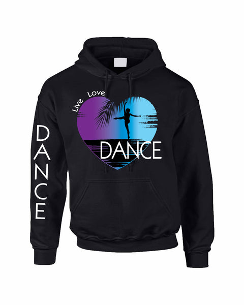 Adult Hoodie Dance Art Purple Print Love Cute Top Nice Gift - ALLNTRENDSHOP - 6