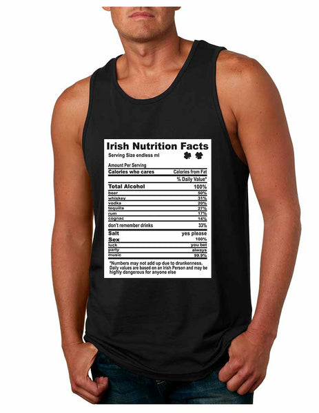 Irish nutrition facts St patrick men jersey tanktop - ALLNTRENDSHOP - 4