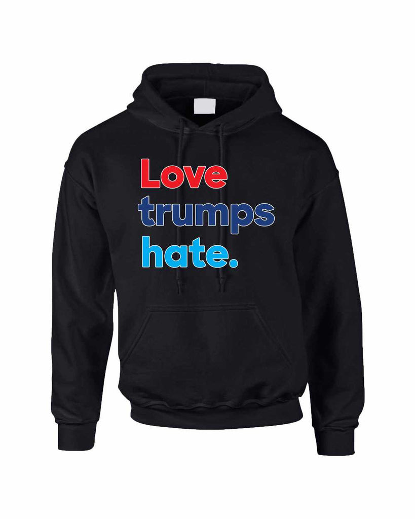 Adult Hoodie Love Trumps Hate Donald Trump USA Sweater - ALLNTRENDSHOP - 1