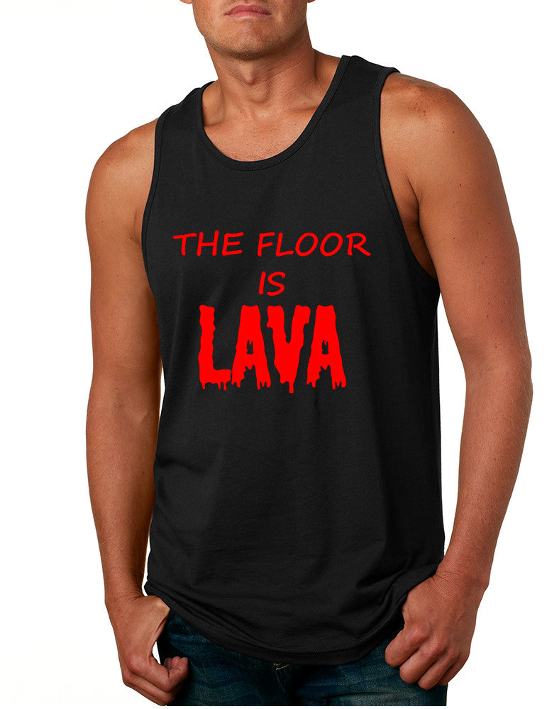 Men's Tank Top The Floor Is Lava Game Red Hot Popular Funny Top