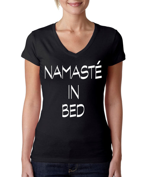 Namaste in bed Women's Sporty V Shirt - ALLNTRENDSHOP - 2