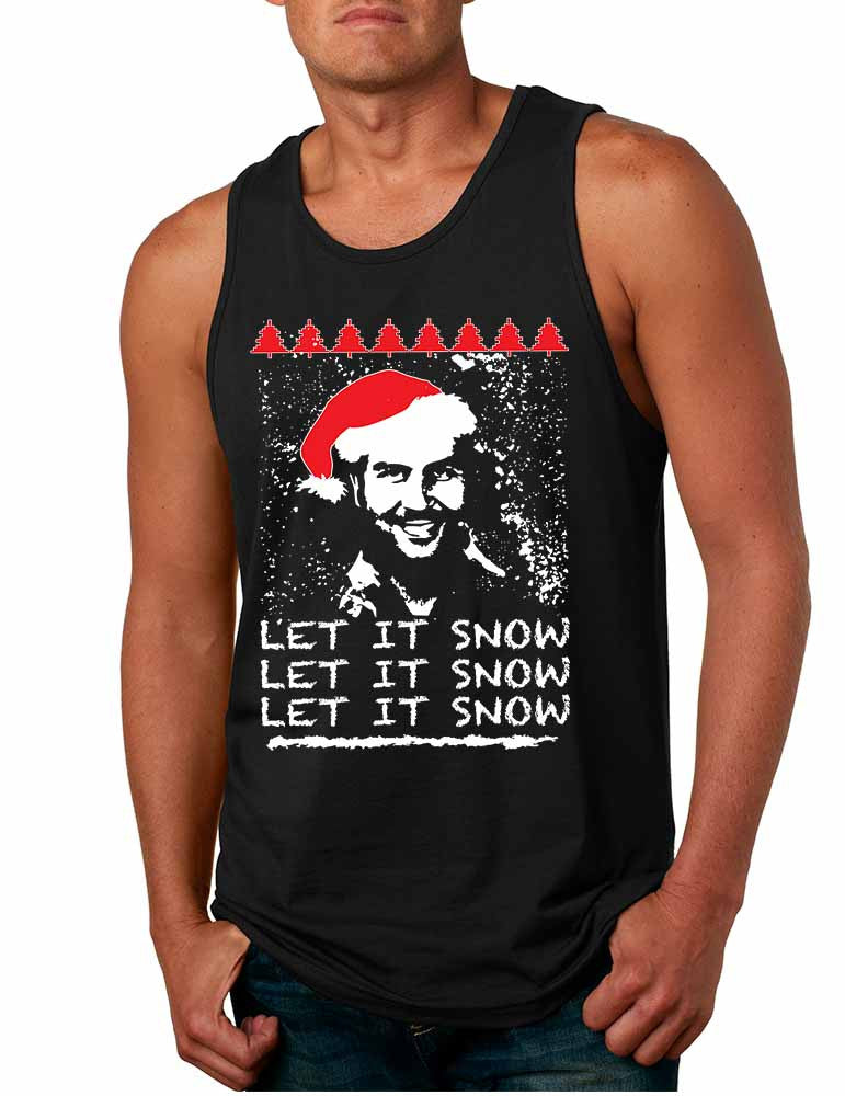 Men's Tank Top Pablo Escobar Snow Christmas Let It Snow Top - ALLNTRENDSHOP - 1