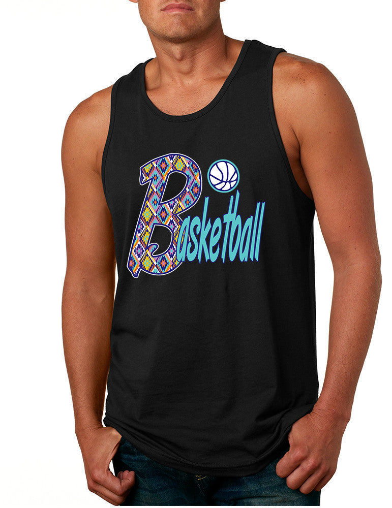 Men's Tank Top Basketball Aztec Love Sport Gym Top Fitness