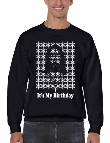 Its my birthday Jesus mens sweatshirt - ALLNTRENDSHOP - 1