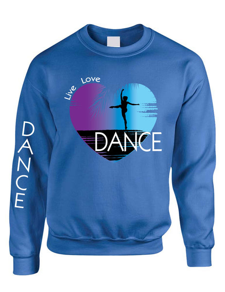 Adult Sweatshirt Dance Art Purple Print Love Cute Top Nice Gift - ALLNTRENDSHOP - 3