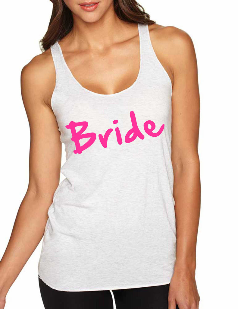 Women's Tank Top Bride Pink Print Cool Bachelorette Party Top