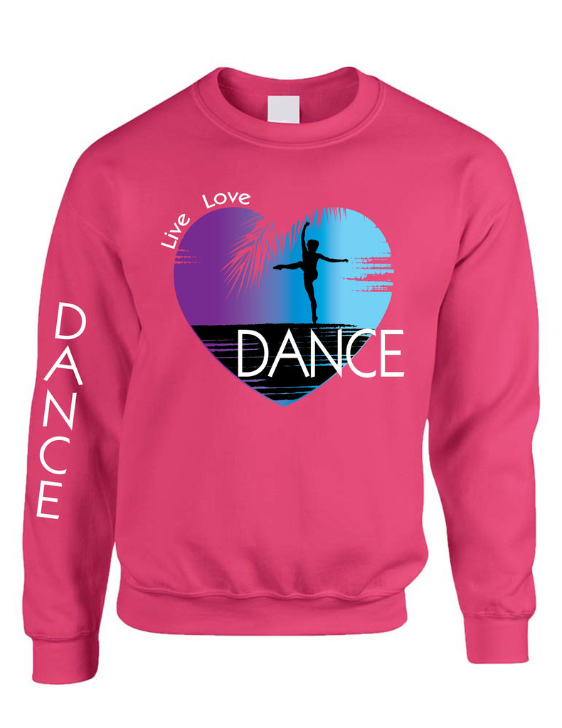 Adult Sweatshirt Dance Art Purple Print Love Cute Top Nice Gift - ALLNTRENDSHOP - 1