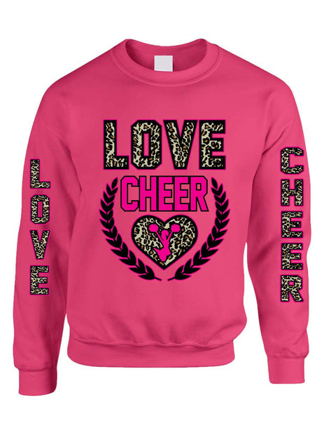Love Cheer Leopard womens Sweatshirts - ALLNTRENDSHOP - 5