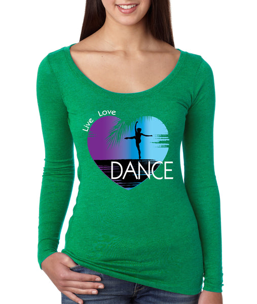 Women's Shirt Dance Art Purple Print Love Cute Gift Nice Top - ALLNTRENDSHOP - 1