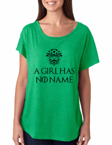 A Girl Has No Name women tri-blend dolman shirt - ALLNTRENDSHOP